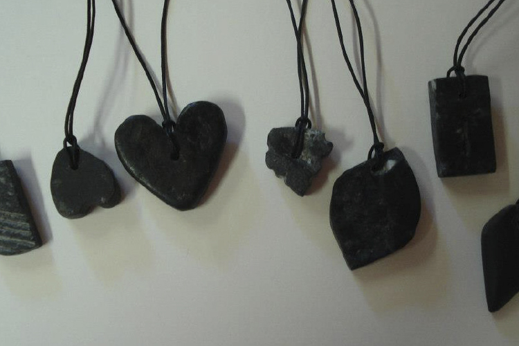 Soapstone amulet making